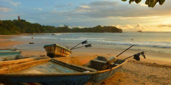 Playa Pelada Boat On Beach